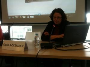 Rencontre du 06 juin 2012 : «L'exil tchernobylien et les sauveurs du patrimoine». Galia Ackerman, Elisabeth Anstett, Virginie Symaniec.