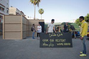"""Exposition """"Ceux qui restent"""" de Wiame Haddad. Dans le cadre de l'évènement Green House. Hay Mohammadi. 20/05/2016 Casablanca, Maroc"""